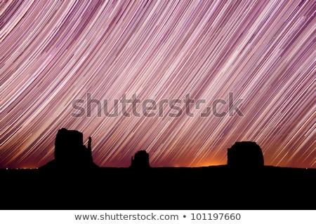 Star Trails in Monument Valley Navajo Nation Arizona Stock photo © tobkatrina