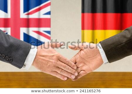 德國 握手 業務 手 成功 國家 商業照片 © Zerbor