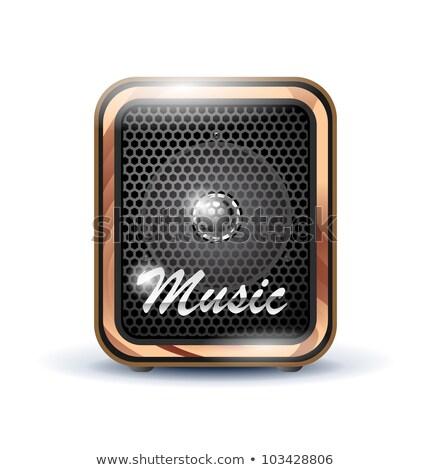 puissant · orateur · stylisé · musique · sonores · design - photo stock © tracer