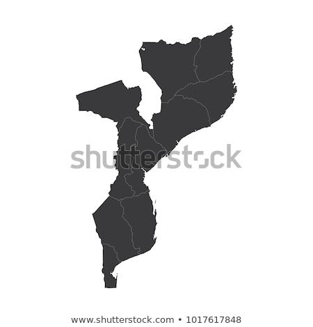 Silhueta mapa Moçambique assinar branco Foto stock © mayboro