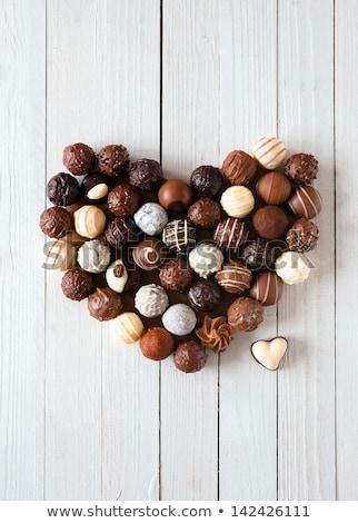 különböző · csokoládé · fotó · lövés · szív · tej - stock fotó © dashapetrenko