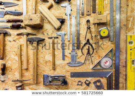 Tamplarie dulgherie construcţie Unelte pin textura de lemn Imagine de stoc © stevanovicigor