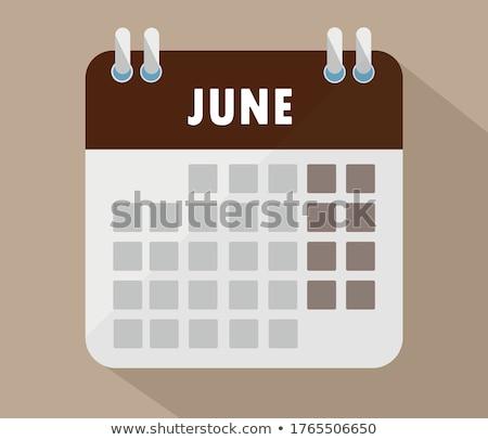 June Calendar Blank Page Stock photo © stevanovicigor