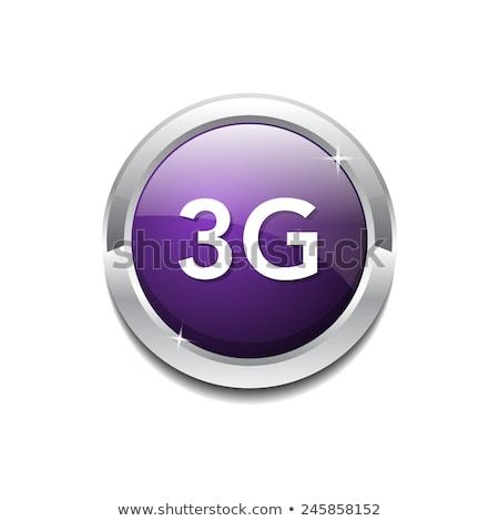 3g Sign Circular Purple Vector Button Icon Stock photo © rizwanali3d