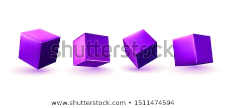 colorful violets in a box stock photo © hofmeester