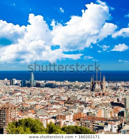 風景 · バルセロナ · スペイン · 家 · 自然 · 夏 - ストックフォト © elxeneize