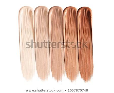 Fondation femmes bouteille couleur Splash maquillage Photo stock © ozaiachin