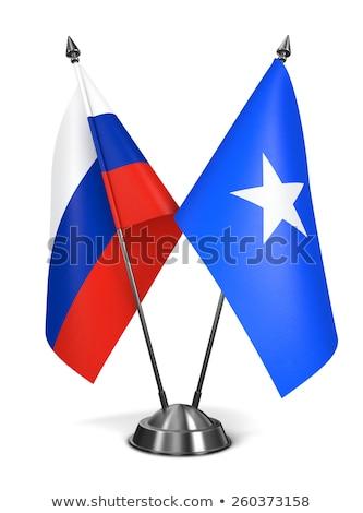 Russia and Somalia - Miniature Flags. Stock photo © tashatuvango