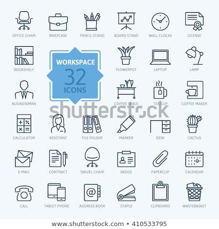 kommunikáció · ikonok · grafit · vektor · háló · nyomtatás - stock fotó © orensila
