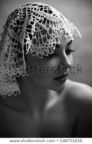 blond · dame · pâle · teint · femme · modèle - photo stock © konradbak
