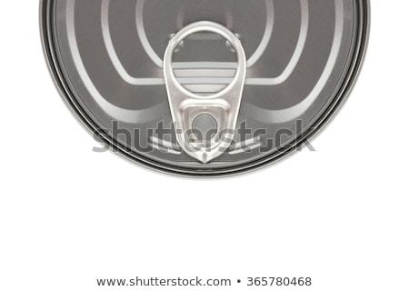 Open Empty Sardine Fish Tin Can, Top View Stock photo © stevanovicigor