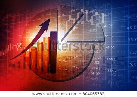 eladó · hanyatlás · szimbólum · csoport · vásárlás · kék - stock fotó © lightsource