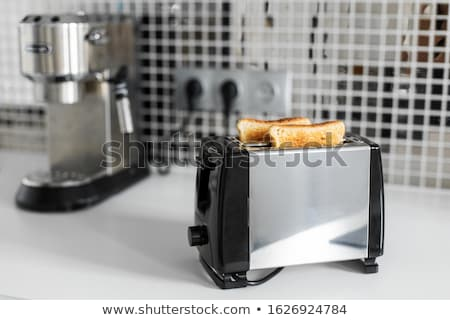 Stock photo: making toast