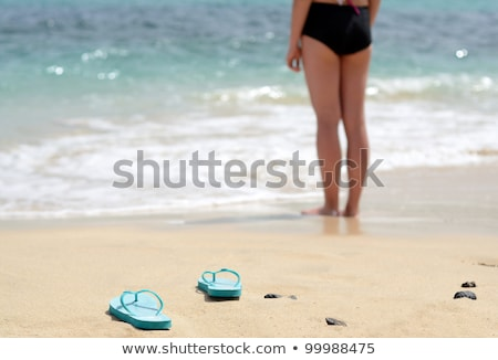 Stock photo: Young girl gone swimming