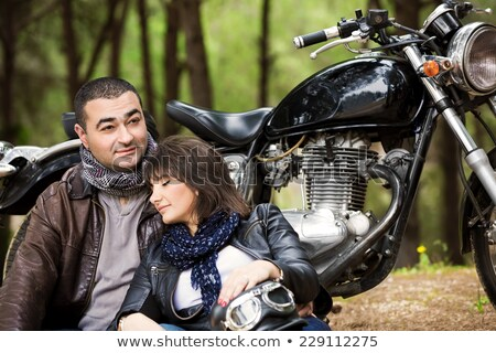 chłopak · patrząc · sympatia · snem · kobieta · uśmiech - zdjęcia stock © feedough