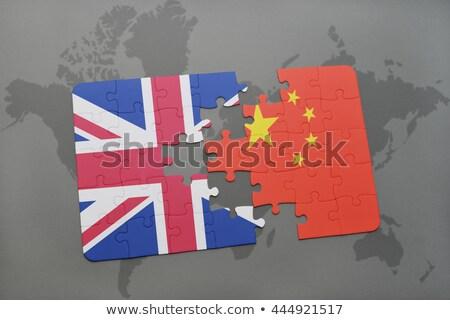 Chine Royaume-Uni drapeaux puzzle vecteur image Photo stock © Istanbul2009