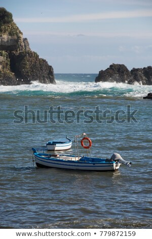 漁船 · シチリア島 · 色 · 青 · 白 - ストックフォト © silroby