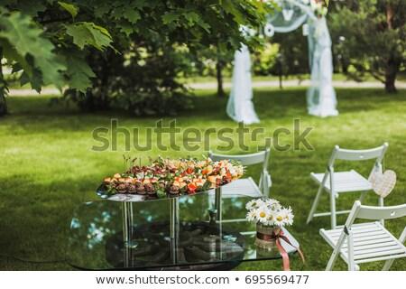 Outdoor catering cocktail alimentare eventi esterna Foto d'archivio © Ainat