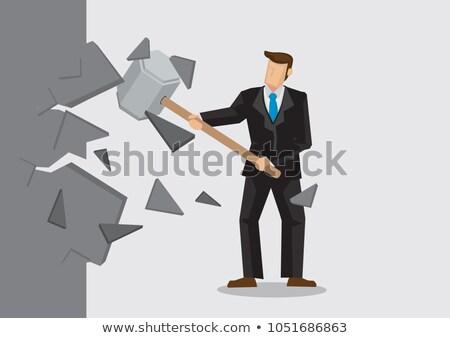 ambitieus · zakenman · werknemer · business · geld · man - stockfoto © konradbak