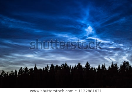 Mooie hemel fenomeen wolken zomer nacht Stockfoto © Juhku