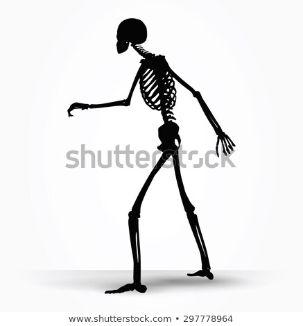 skeleton silhouette in shuffle pose Stock photo © Istanbul2009