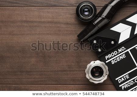 Traditionnel bois temps film vidéo sonores Photo stock © nito