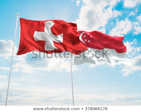 Switzerland and Singapore Flags Stock photo © Istanbul2009