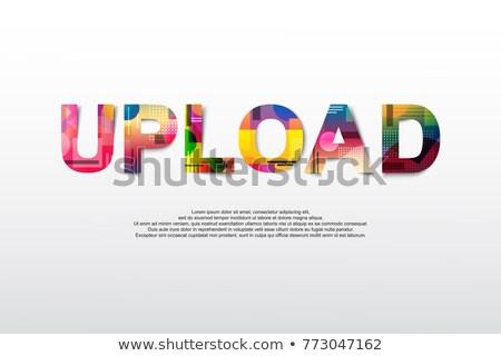 アップロード 言葉 pc マウス 通信 デジタル ストックフォト © fuzzbones0