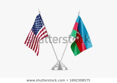 USA Azerbejdżan miniatura flagi odizolowany biały Zdjęcia stock © tashatuvango