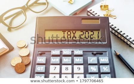 adózás · szó · egér · billentyűzet · üzlet · gyerekek - stock fotó © fuzzbones0
