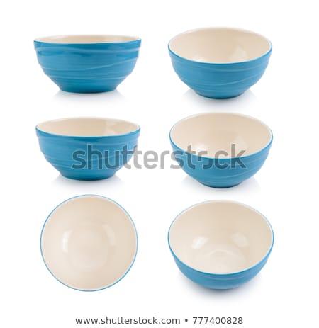 blue bowl isolated on white stock photo © ozaiachin