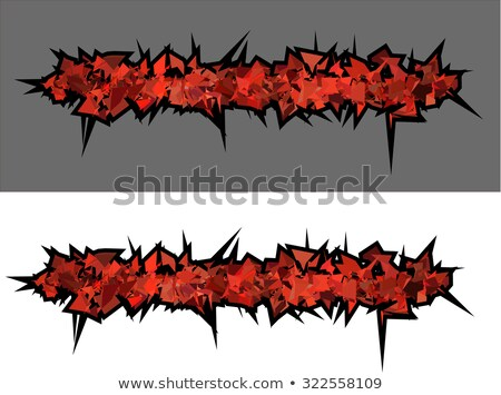 graffiti abstract red spiked shape pattern on white  Stock photo © Melvin07