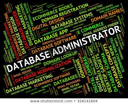 banco · de · dados · administrador · supervisor · gerente · computador - foto stock © stuartmiles