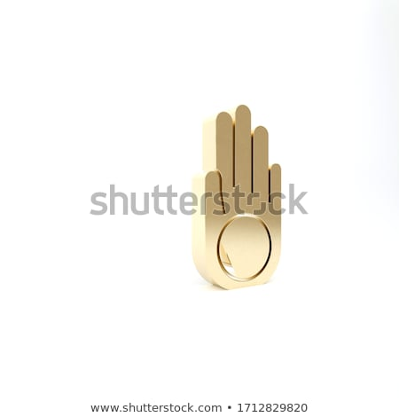 Symbol of Jainism in gold  Stock photo © shawlinmohd