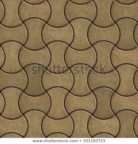 Sand Color Paving Slabs in the Streamlined Form. Stock photo © tashatuvango