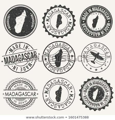 Madagascar · pays · pavillon · carte · forme · texte - photo stock © tony4urban