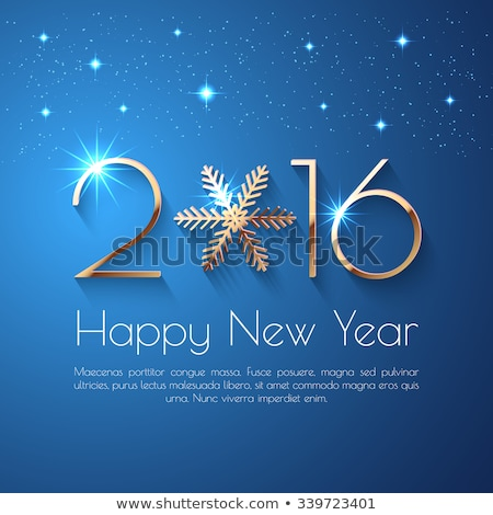 2016 background of snowflakes. Number text of symbol year 2016 Stock photo © orensila