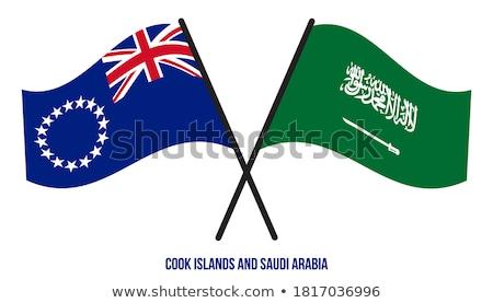 Suudi Arabistan pişirmek bayraklar bilmece yalıtılmış Stok fotoğraf © Istanbul2009