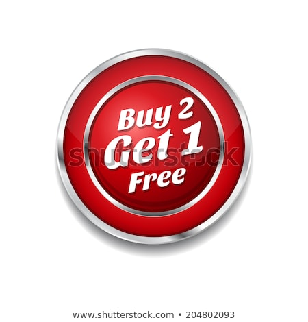 Stock photo: Buy 2 Get 1 Free Glossy Shiny Circular Vector Button
