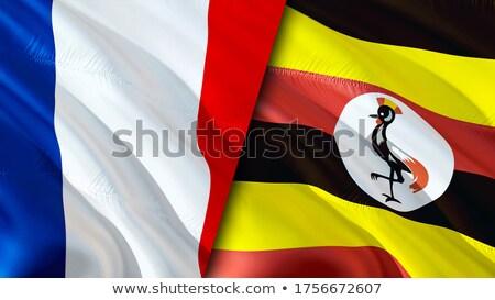 Fransa Uganda bayraklar bilmece yalıtılmış beyaz Stok fotoğraf © Istanbul2009