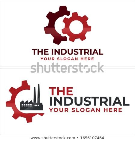 Przemysł naftowy logo stylizowany symbol streszczenie oleju Zdjęcia stock © tracer