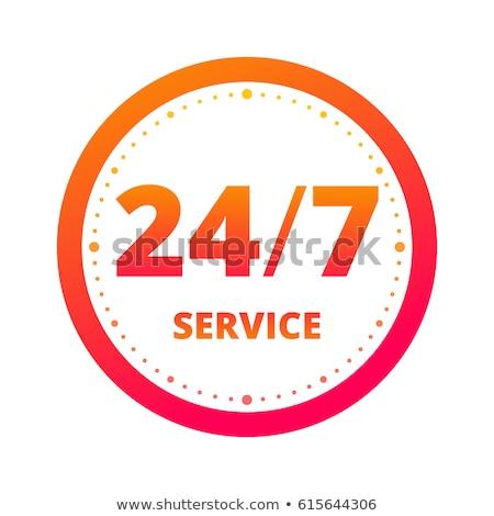 24 Hours Support golden Vector Icon Design Stock photo © rizwanali3d