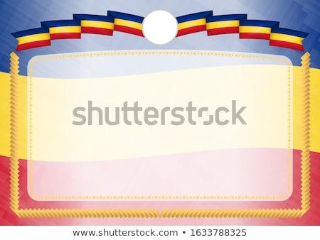 Rumunia kraju banderą Pokaż tekst Zdjęcia stock © tony4urban