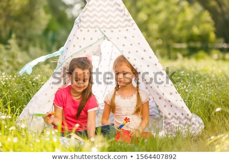 Two tents near the house  stock photo © Kotenko