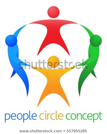 Mensen cirkel business hand abstract groep Stockfoto © Paha_L