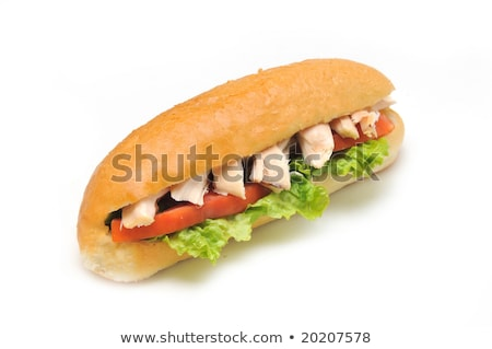 szendvics · gombák · fából · készült · felület · étel · olaj - stock fotó © rojoimages