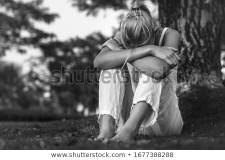 Nő sír kétségbeesés alacsony kulcs portré Stock fotó © stevanovicigor