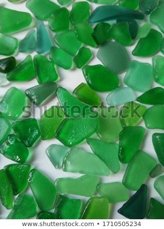 Mojado vidrio piezas pulido mar primer plano Foto stock © marylooo