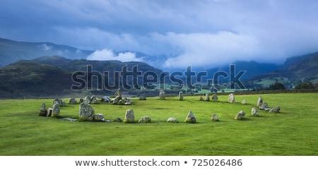 Kövek kör híres misztikus hely Nagy-Britannia Stock fotó © CaptureLight