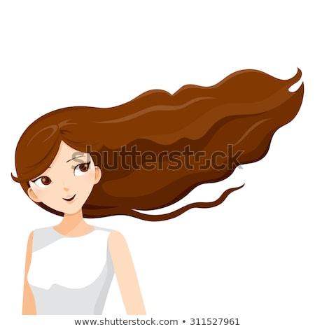 longo · penteado · belo · sensual · olhos · modelo - foto stock © ussr